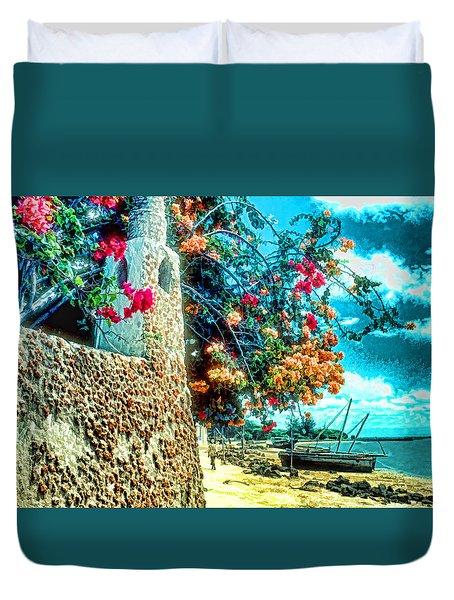 Lamu Beach Duvet Cover