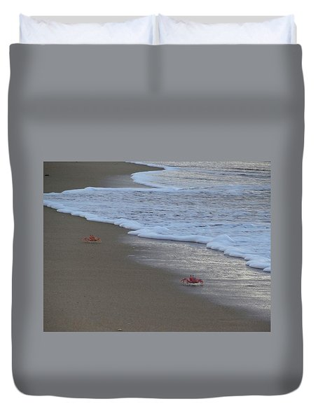 Lamu Island - Crabs Playing At Sunset 4 Duvet Cover