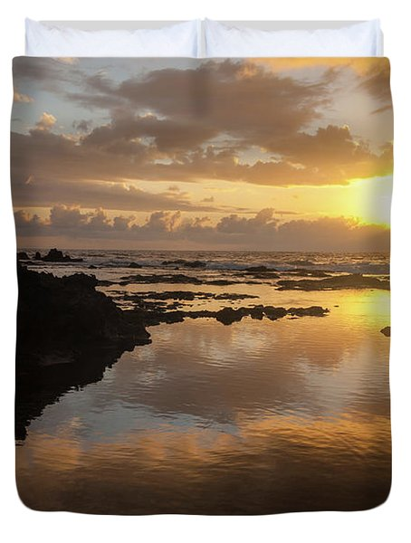 Lanai Sunset #1 Duvet Cover