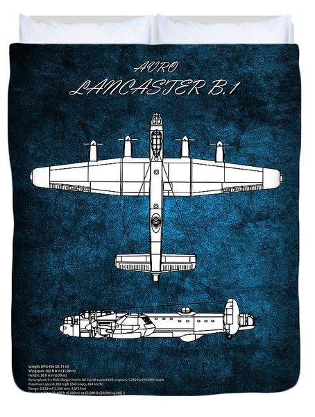 Avro lancaster duvet covers fine art america lancaster bomber blueprint duvet cover malvernweather Gallery