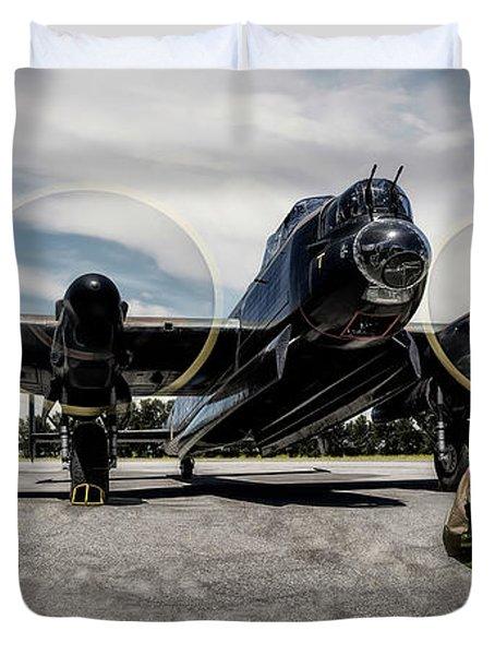 Lancaster Engine Test Duvet Cover