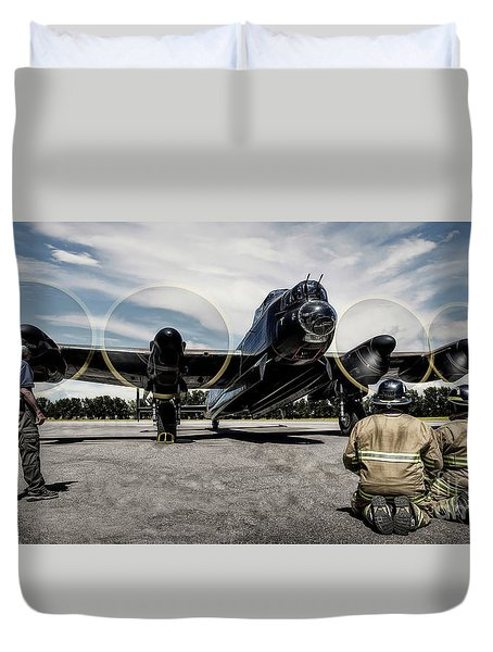 Lancaster Engine Test Duvet Cover
