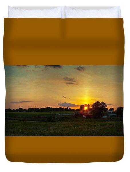 Lancaster Farm Sunset Panorama Duvet Cover
