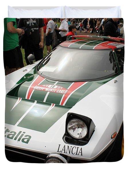 Lancia Stratos Rally Duvet Cover