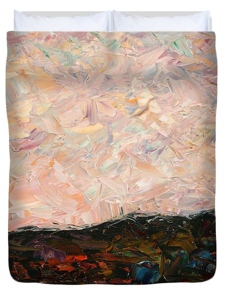Land And Sky Duvet Cover by James W Johnson