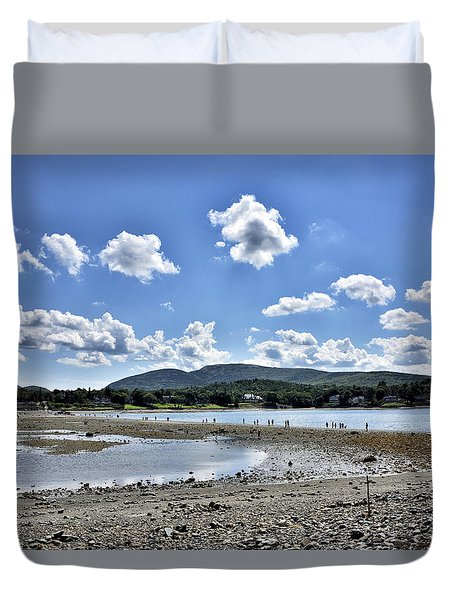 Land Bridge From Bar Harbor To Bar Island - Maine Duvet Cover