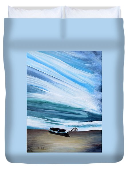 Land Meets Sky Duvet Cover by Marilyn  McNish