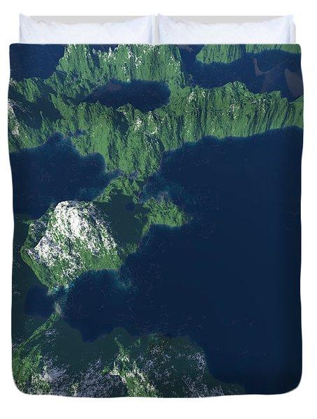 Land Of A Thousand Lakes Duvet Cover by Gaspar Avila