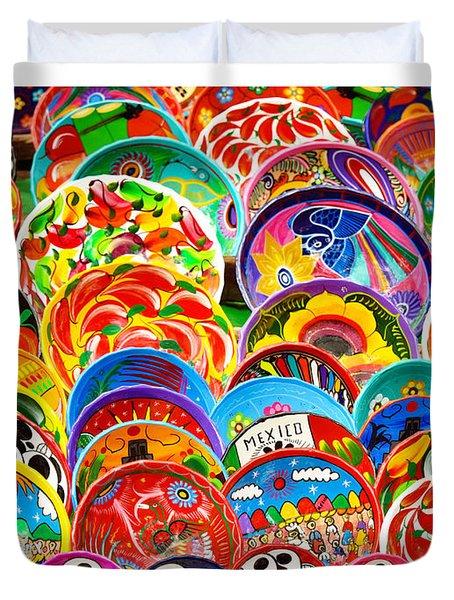 Land Of Brilliant Color Duvet Cover