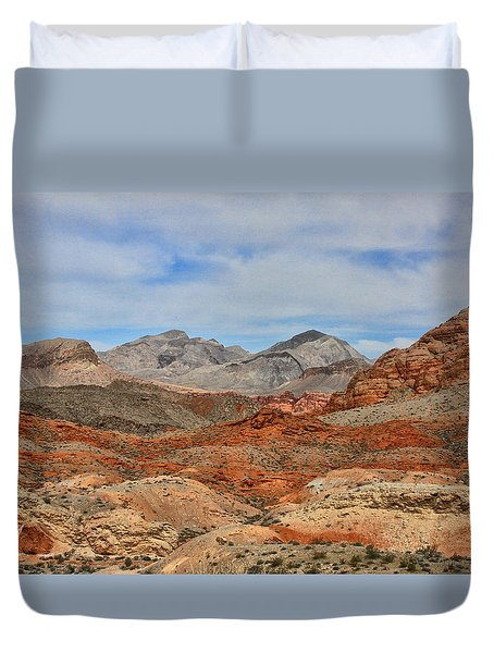 Duvet Cover featuring the photograph Land Of Fire by Tammy Espino