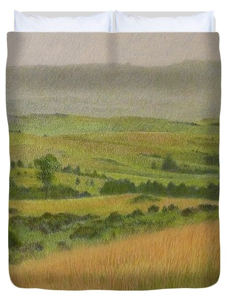 Land Of Grass Duvet Cover