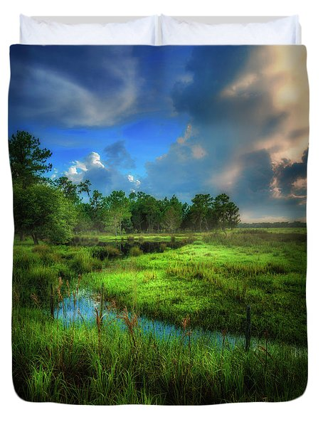 Duvet Cover featuring the photograph Land Of Milk And Honey by Marvin Spates
