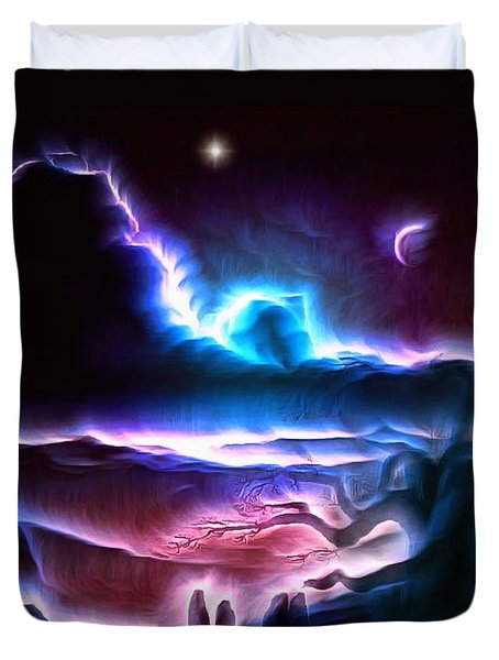 Land Of Nightmares Duvet Cover