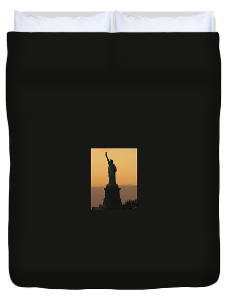 Land Of The Free And The Brave Duvet Cover by Emmy Vickers