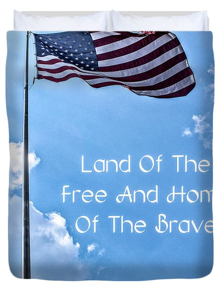 Land Of The Free Duvet Cover by Joann Copeland-Paul