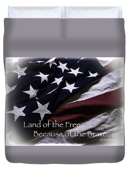 Land Of The Free Duvet Cover