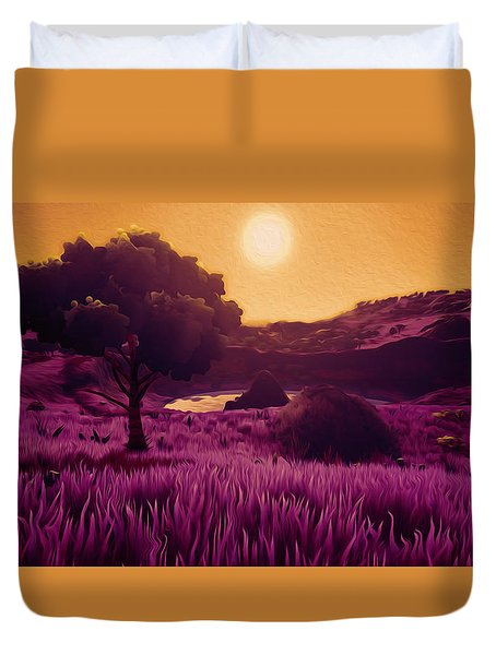 Land Of The Sun - Land Of The Future Duvet Cover by Andrea Mazzocchetti