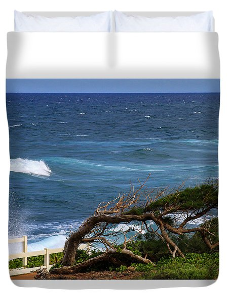 Land Wind And Sea Duvet Cover by Bonnie Follett
