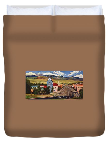 Duvet Cover featuring the painting Lander 2000 by Art West