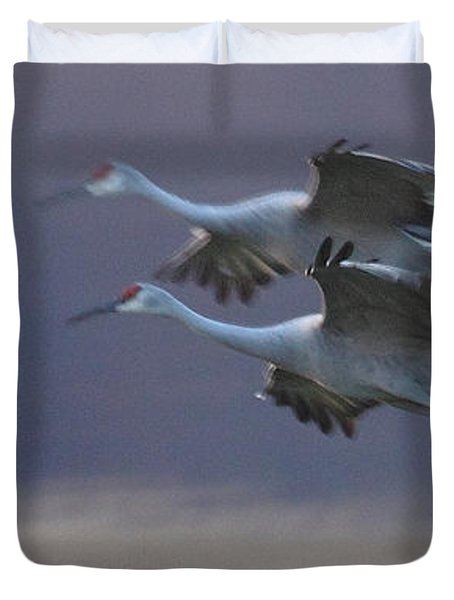 Duvet Cover featuring the photograph Landing Gear Down by Shari Jardina