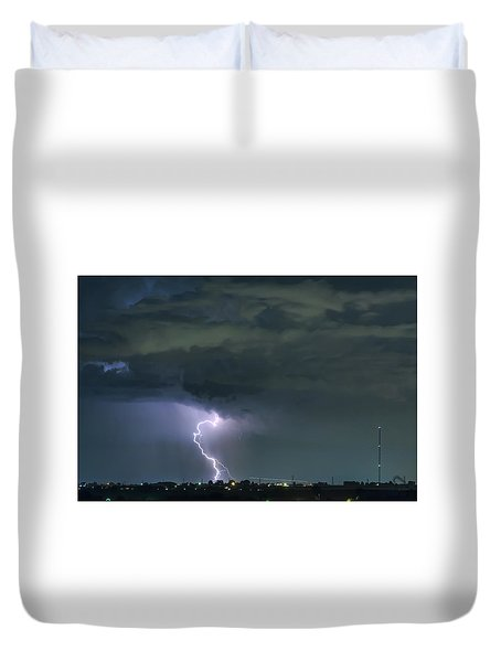 Duvet Cover featuring the photograph Landing In A Storm by James BO Insogna
