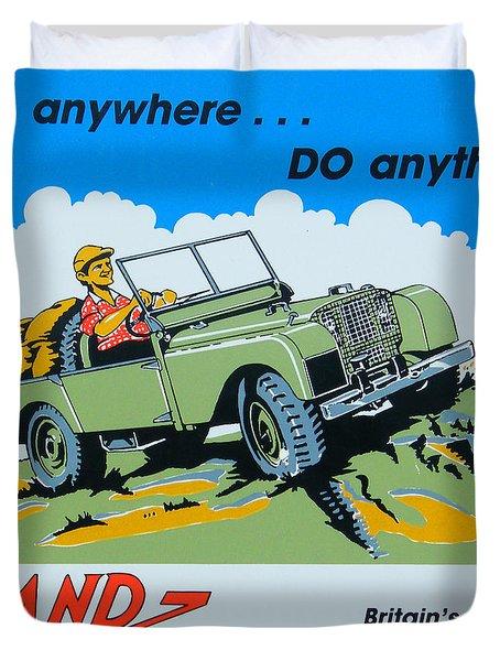 Landrover Advert - Go Anywhere.....do Anything Duvet Cover