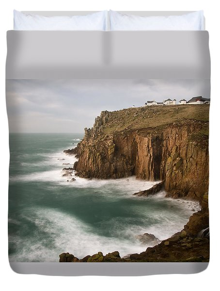 Lands End At Dusk Duvet Cover