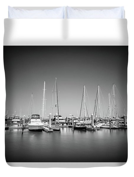 Lands End Marina  Duvet Cover