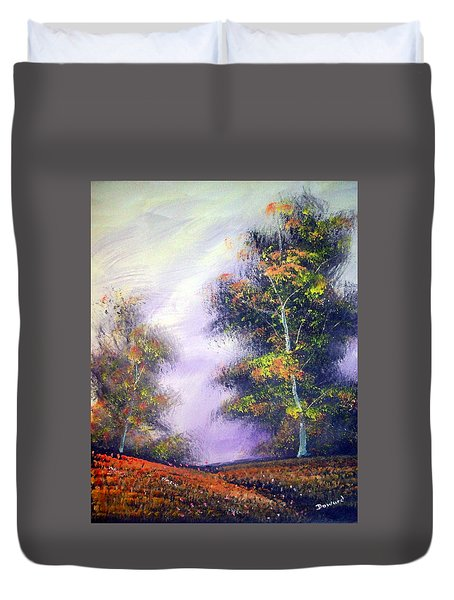 Duvet Cover featuring the painting Landscape #1 by Raymond Doward