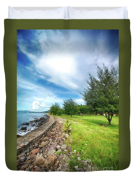 Duvet Cover featuring the photograph Landscape 2 by Charuhas Images