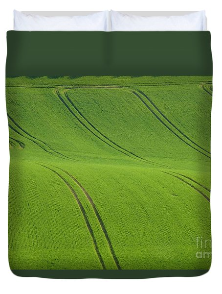 Landscape 5 Duvet Cover by Jean Bernard Roussilhe