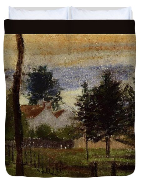 Landscape At Louveciennes Duvet Cover