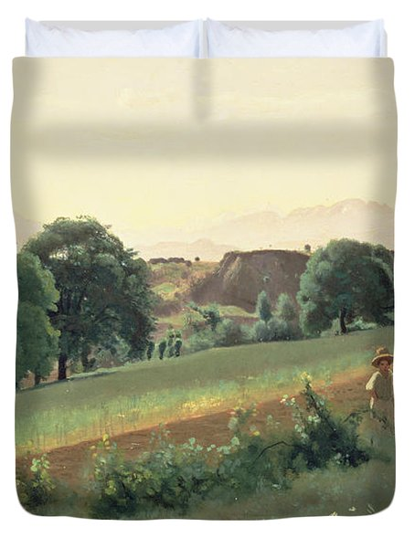 Landscape At Mornex Duvet Cover