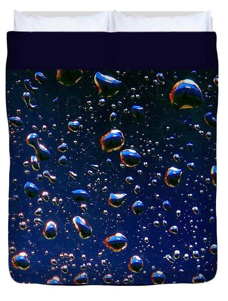 Landscape Bubbles Duvet Cover by Marianne Dow