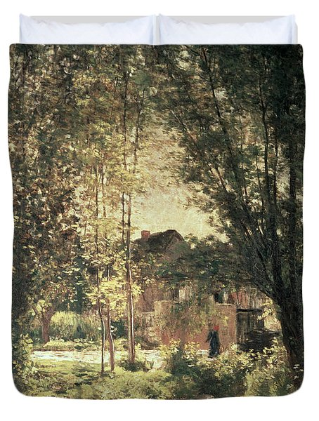 Landscape Duvet Cover by Charles Francois Daubigny