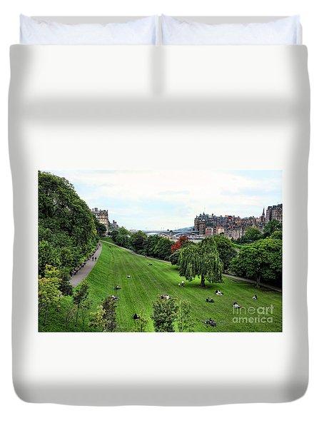 Landscape Edinburgh  Duvet Cover by Chuck Kuhn