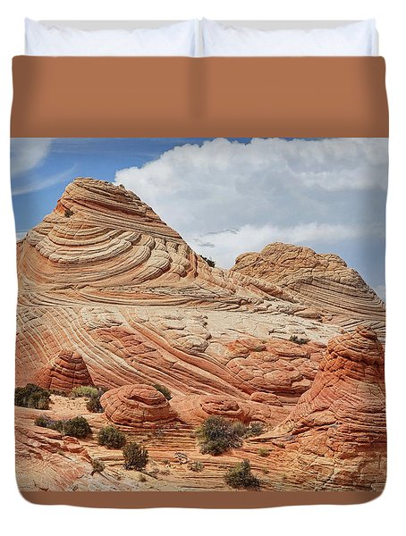 Duvet Cover featuring the photograph Landscape From Another World by Theo O'Connor