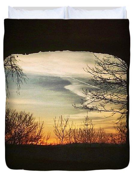 #landscape #gateway #historicalplace Duvet Cover by Mandy Tabatt