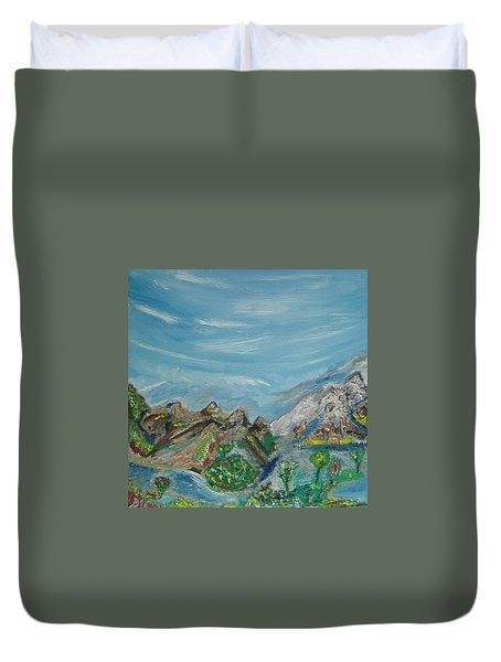 Landscape. Imagination. Duvet Cover