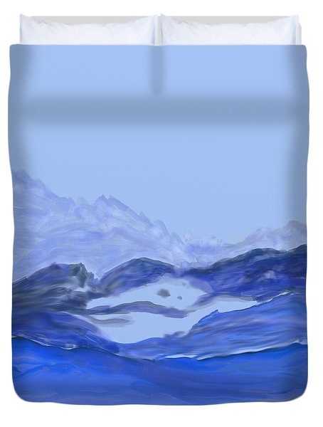 Landscape In Blues Duvet Cover
