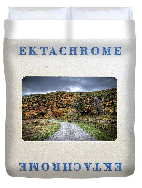 Landscape In Ektachrome Duvet Cover