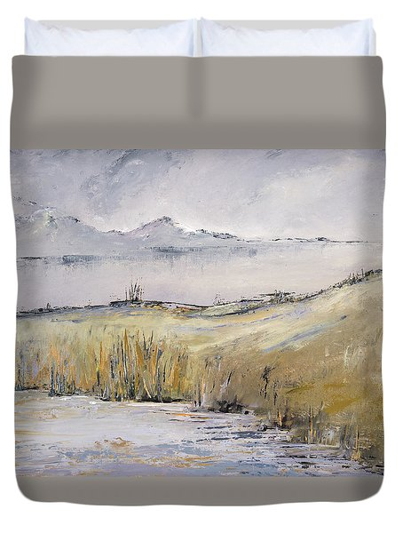 Landscape In Gray Duvet Cover