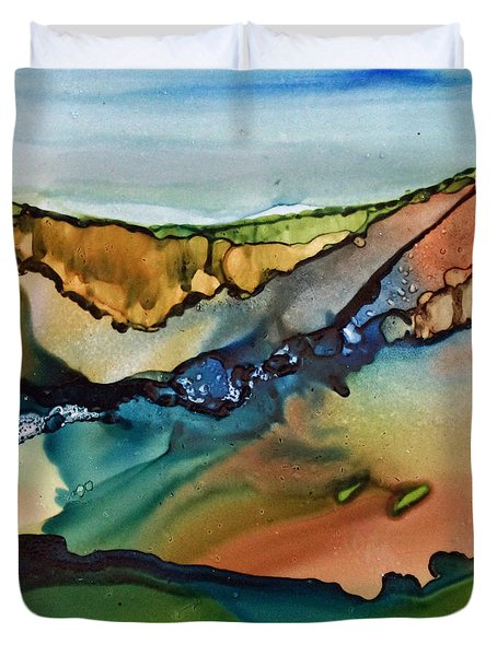Landscape In Ink Duvet Cover by Joanne Smoley