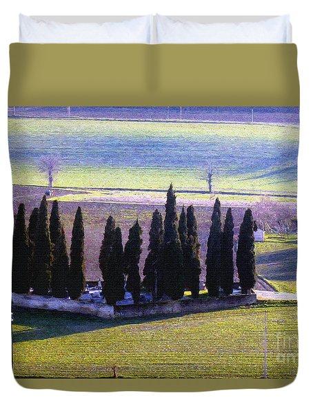 Duvet Cover featuring the photograph Landscape by Jean Bernard Roussilhe