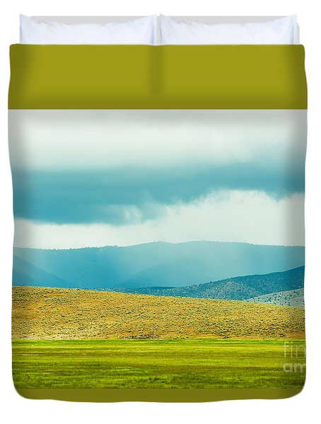 Duvet Cover featuring the photograph Landscape Layers by MaryJane Armstrong