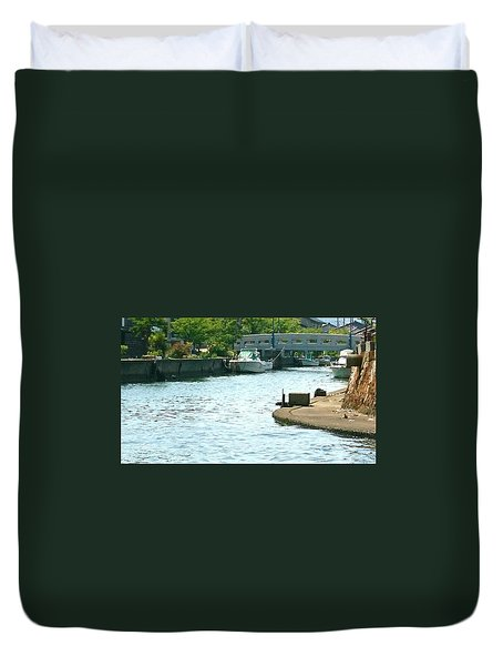 Japanese Seaside Duvet Cover