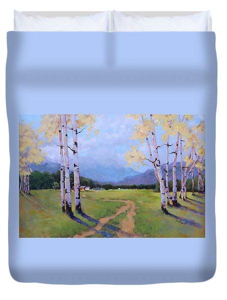 Landscape Series 4 Duvet Cover by Laura Lee Zanghetti