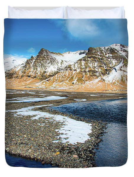 Duvet Cover featuring the photograph Landscape Sudurland South Iceland by Matthias Hauser