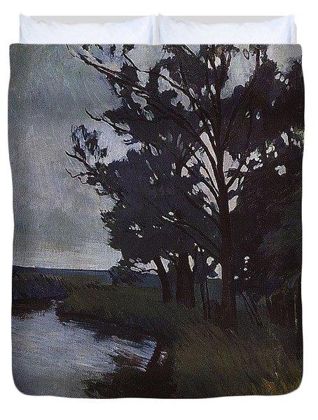 Landscape With A River Zinaida Serebryakova Duvet Cover