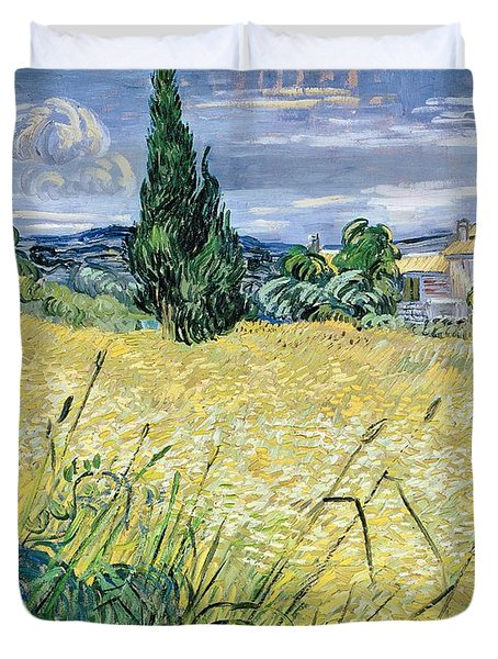 Landscape With Green Corn Duvet Cover